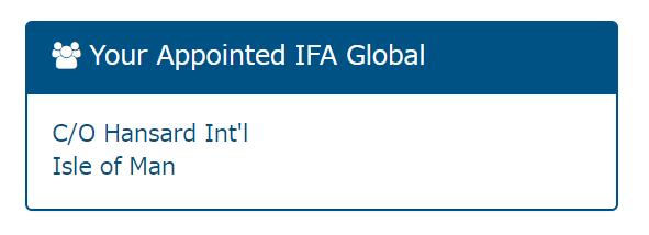 ハンサードのIFA表示